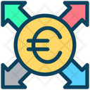 Euro Send Payment Icon