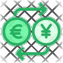 Euro And Yen Exchange Icon