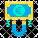 Euro Attract Attract Money Attract Finance Icon