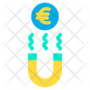 Magnet Magnetic Euro Icon