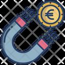Euro Attraction Euro Magnet Icon