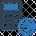 Euro Badget Calculator Coin Icon