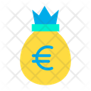 Euro Bag Money Bag Currency Bag Icon