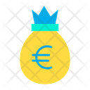 Euro Bag Moneybag Money Sack Icon