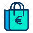 Bag Euro Shop Icon