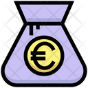 Euro Bag Pound Bag Money Bag Icon