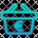 Basket Buy Euro Icon
