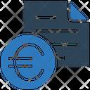 Euro Bill Receipt Euro Icon