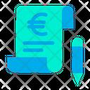 Bill Euro Invoice Icon