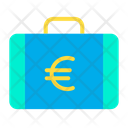 Euro Briefcase Euro Suitcase Money Briefcase Icon