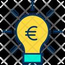 Euro Bulb Finance Idea Euro Icon