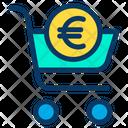 Cart Euro Online Icon