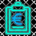 Euro Clipboard Icon