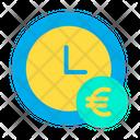 Euro Clock Icon