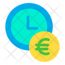 Clock Time Euro Icon