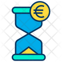 Euro Clock Hourglass Euro Icon