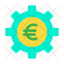 Cog Wheel Euro Wheel Money Optimization Icon