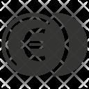 Coin Euro Finance Icon