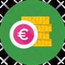 Euro Coins Stack Icon
