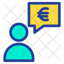 Euro Chat Bubble Chat Bubble Euro Chat Icon