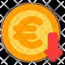 Euro Decrease Euro Decrease Icon