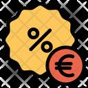 Euro Discount Icon