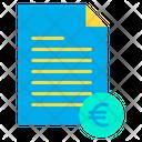 Euro document Icon
