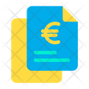 Euro Finance Document Papers Icon