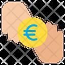 Euro Donation Coin Icon