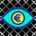 Eye Euro Money In Eyes Icon