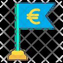 Business Achivement Euro Financial Success Icon