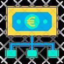 Euro Flow Flow Money Flow Icon