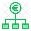 Flowchart Euro Money Chart Icon