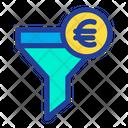 Funnel Euro Filter Icon