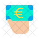 Euro Note Giving Euro Donation Icon