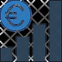 Euro Graph Earning Graph Money Icon