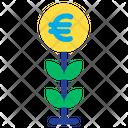 Plant Grow Euro Plant Icon