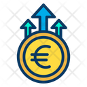 Euro Growth Business Growth Money Growth Icon