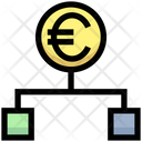 Euro Hierarchy Structure Connection Icon