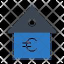 Euro Home House Icon