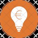 Euro Idea Bulb Business Concept Icon