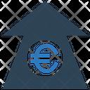 Euro Increase Euro Up Arrow Increase Arrow Icon