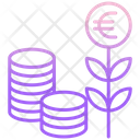 Mgrowth Euro Investment Growth Icon
