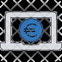 Euro Laptop Icon