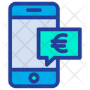 Mobile Chat Euro Chat Icon
