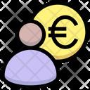 Euro Manager Banker Finance Manger Icon