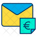 Euro Message Message Mail Icon