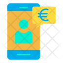 Euro Mobile Mobile Payment Transaction Icon
