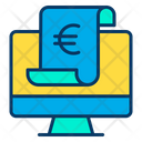 Euro Monitor Online Payment Online Pay Icon