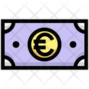 Euro Note Cash Note Icon